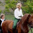 Nicole Kidman tourne une scène du biopic  Grace de Monaco  à cheval, près de Monaco. Le 12 octobre 2012.