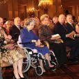 Le prince Lorenz, la princesse Astrid, la reine Fabiola, la reine Paola, le roi Albert, le prince Philippe et la princesse Mathilde. La famille royale de Belgique était réunie le 24 octobre 2012 au palais à Bruxelles pour un concert d'automne offert par le couple royal.