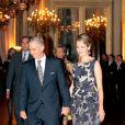 Le prince Philippe et la princesse Mathilde. La famille royale de Belgique était réunie le 24 octobre 2012 au palais à Bruxelles pour un concert d'automne offert par le couple royal.