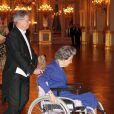 La reine Fabiola. La famille royale de Belgique était réunie le 24 octobre 2012 au palais à Bruxelles pour un concert d'automne offert par le couple royal.
