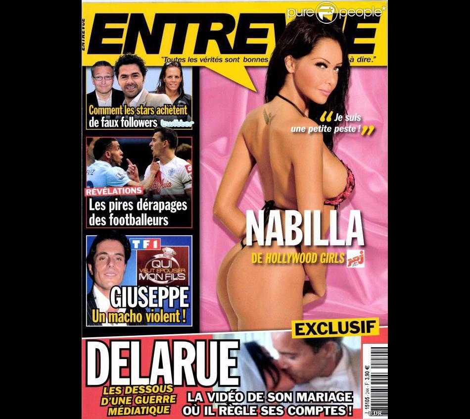 Nabilla en couverture d'Entrevue - Novembre 2012