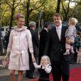 Le prince Friso et la princesse Mabel avec leurs filles Luana et Zaria en octobre 2007 au baptême de la princesse Ariane à La Haye.