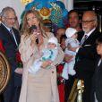 Céline Dion entourée de sa famille fait son grand retour à Las Vegas le 16 février 2011.