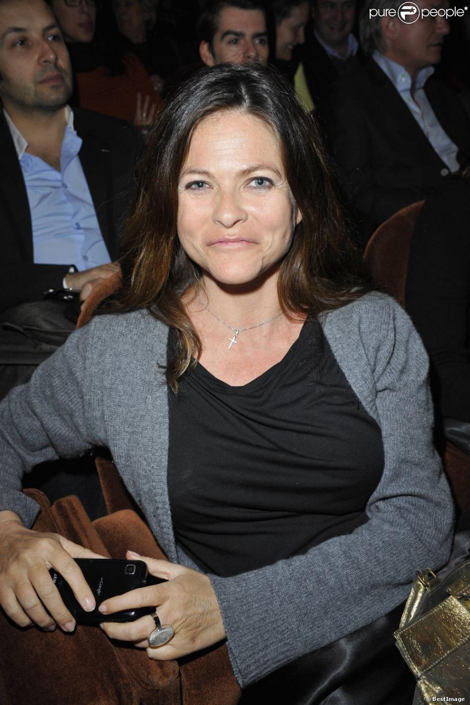 Charlotte Valandrey, directrice de la Star Academy 9, à Paris le 5 mars 2012.