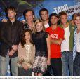 Le casting de la série américaine 7 à la maison lors des Teen Choice Award le 5 août 2002.