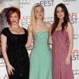 Christina Hendricks, Elle Fanning et Alice Englert au AFI Fest 2012  pour la projection de  Ginger & Rosa , le 7 novembre 2012.