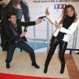 """Sandrine Quétier et Christophe Beaugrand lors de l'avant premiere de """"No limit"""" à Paris au cinéma Georges V le 13 Novembre 2012."""