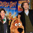 Vincent Desagnat et sa compagne Audrey lors de l'avant-première de Scooby Doo 2 aux Folies Bergère à Paris le 18 novembre 2012