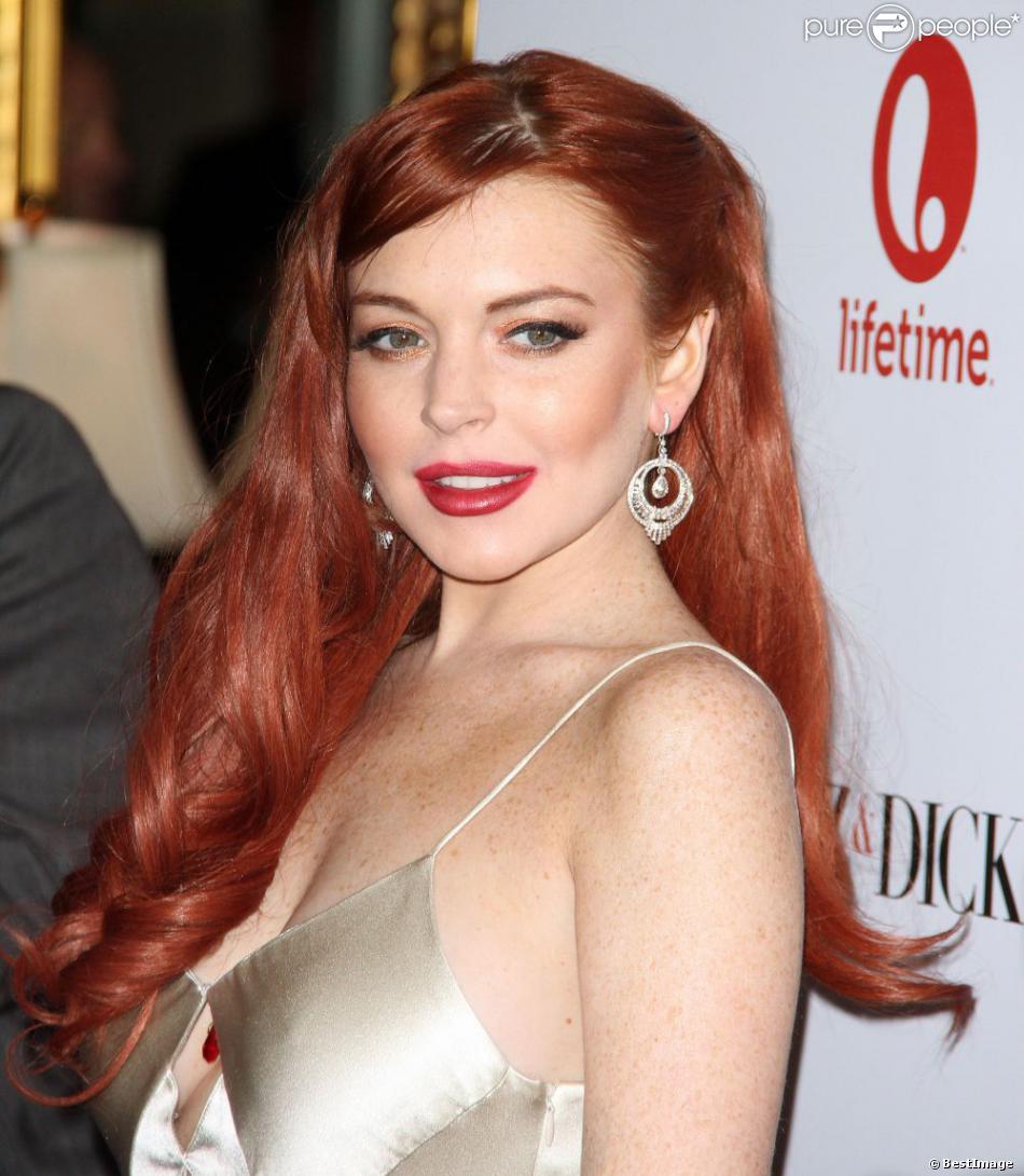 Lindsay Lohan à l'avant-première du téléfilm  Liz & Dick  à Beverly Hills, le 20 novembre 2012.