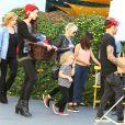 Pete Wentz, sa petite amie Meagan Camper - Ashlee Simpson et Pete Wentz a la fete d'anniversaire déguisee de Bronx Wentz, a Studio City, le 20 novembre 2012.