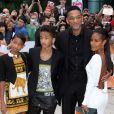Will Smith avec sa femme Jada et ses enfants Willow et Jaden à l'avant-première du film  Free Angela & All Political Prisoners  à Toronto le 9 septembre 2012.