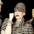 Gwen Stefani et ses compères du groupe No Doubt en plein shooting photo.