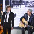 Cali et Enrico Macias lors de l'enregistrement de l'émission Vivement Dimanche le 21 novembre 2012 - diffusion sur France 2 le 25 novembre