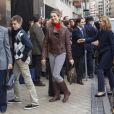La famille royale d'Espagne visitait le 25 novembre 2012 à l'hôpital Quiron San José de Madrid le roi Juan Carlos Ier après son arthroplastie à la hanche gauche.