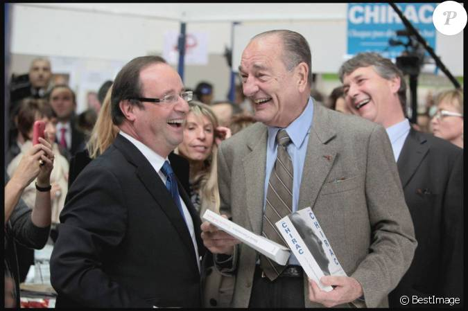 Jacques chirac et fran ois hollande au salon du livre de for Salon livre brive