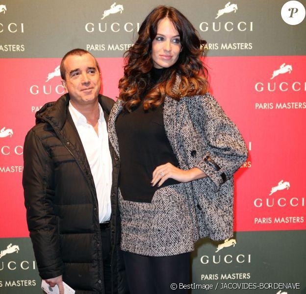 La sublime Jade Foret et Arnaud Lagardère aux Gucci Masters à Villepinte, le 2 décembre 2012