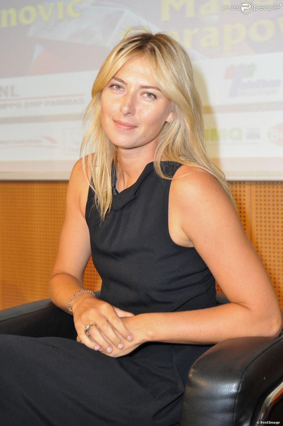 Maria Sharapova lors de la conférence de presse du tournoi La Grande Sfida à Milan le 3 décembre 2012