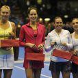 Maria Sharapova, Ana Ivanovic, Roberta Vinci, Sara Errani lors du tournoi La Grande Sfida à Milan le 3 décembre 2012
