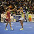 Ana Ivanovic, Maria Sharapova lors du tournoi La Grande Sfida à Milan le 3 décembre 2012