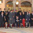 La famille royale d'Espagne était rassemblée le 6 décembre 2012 pour décerner au palais des prix sportifs.