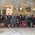 La reine Sofia d'Espagne, le prince Felipe, la princesse Letizia et l'infante Elena étaient réunis au palais du Pardo à Madrid le 5 décembre 2012 pour décerner les Prix nationaux à des personnalités du monde du sport, dont Cristiano Ronaldo.