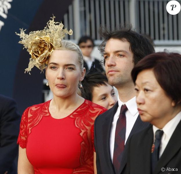 Kate Winslet et son compagnon Ned Rocknroll à la Longines Hong Kong International Races, le 9 décembre 2012.