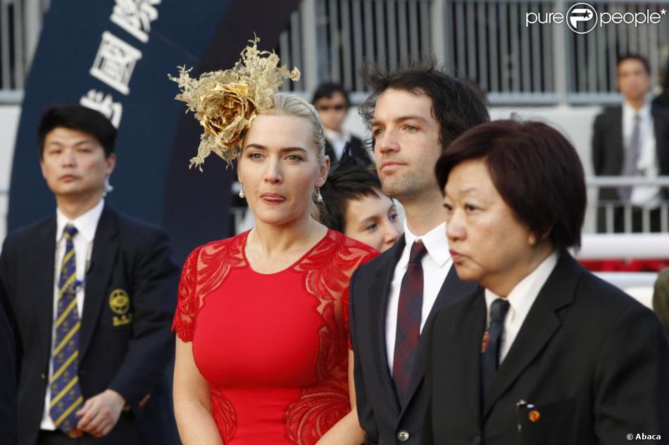 Kate Winslet et son compagnon Ned Rocknroll à la Longines Hong Kong International Races, le 9 décembre 2012.