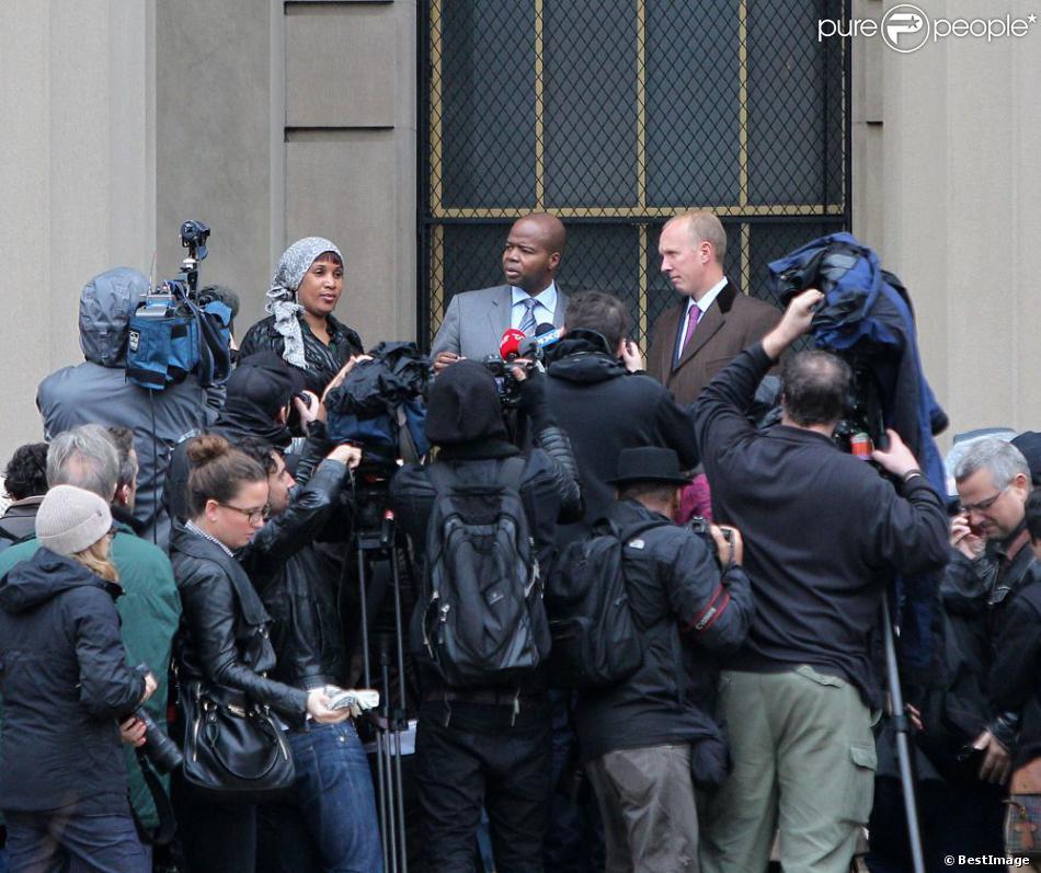 Nafissatou Diallo devant le tribunal du Bronx à New York, le 10 décembre 2012. Un accord financier avec Dominique Strauss-Kahn vient d'être signé, mettant fin à 19 mois de procédure.