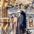 Johnny Depp et Armie Hammer sur l'impressionnant tournage de Lone Ranger en Californie, le 27 septembre 2012.