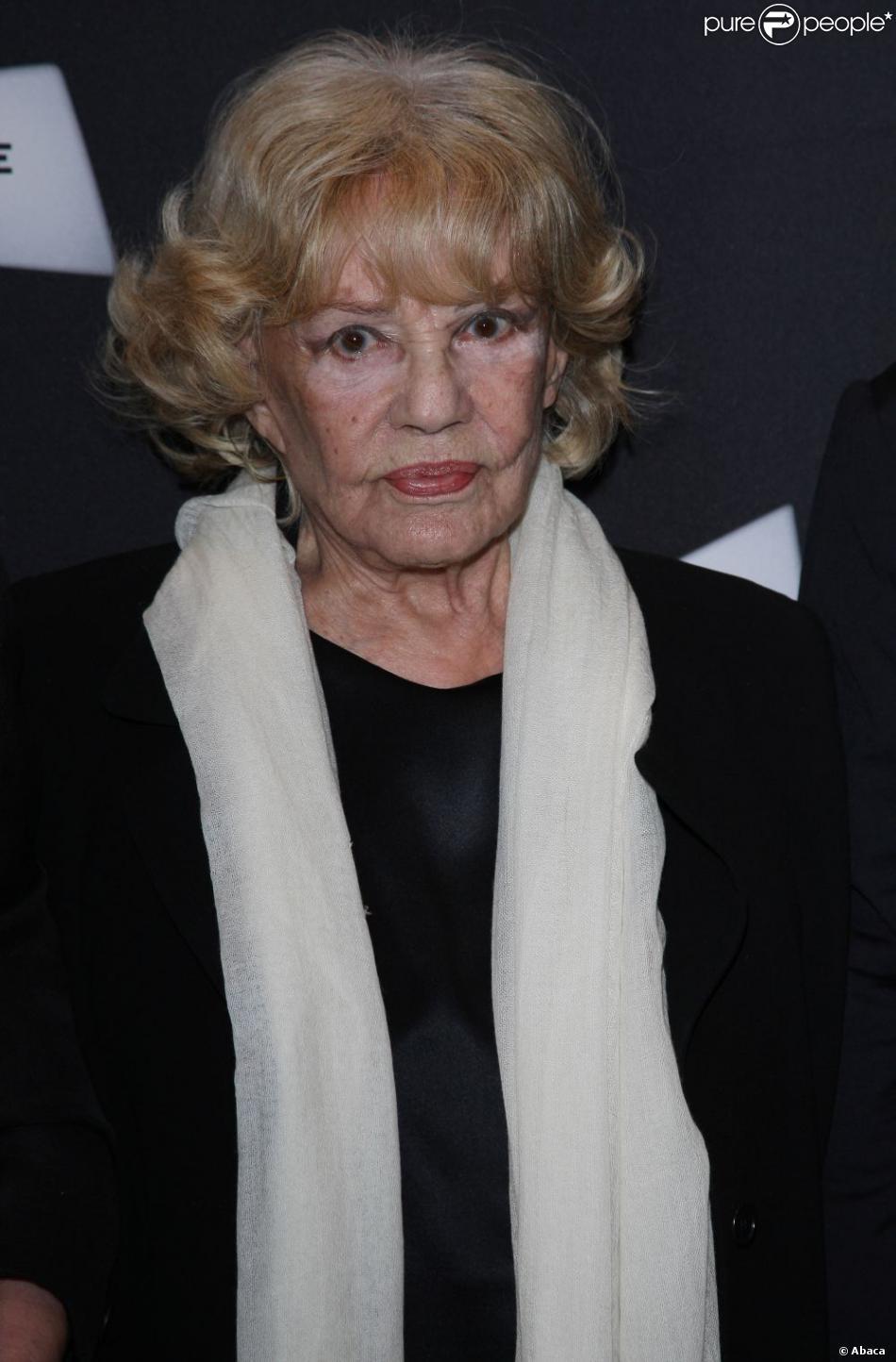Jeanne Moreau lors de l'avant-première du film Gebo et l'ombre le 6 septembre 2012 à Paris
