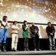Le jury aux côtés de Cristian Mungiu, lors de l'ouverture du Festival du cinéma européen aux Arcs, le 15 décembre 2012.
