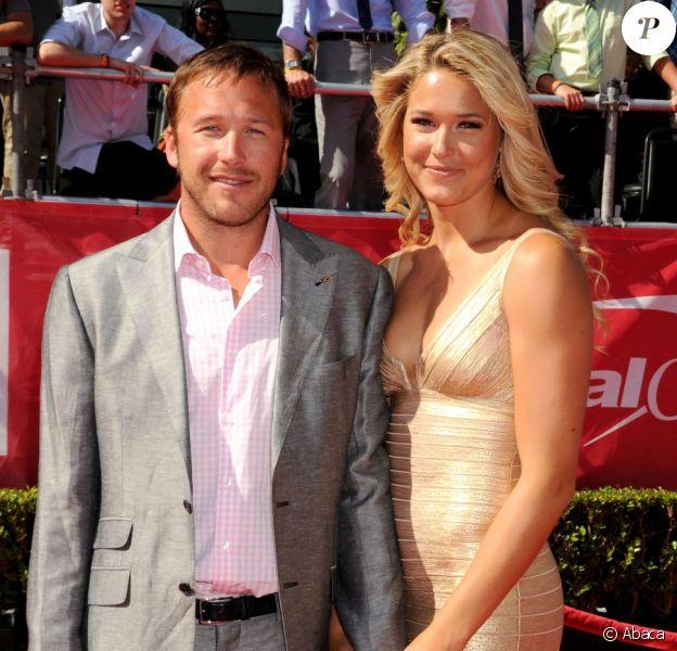 Bode Miller et sa femme Morgan, le 11 juillet 2012 au Staples Center de Los Angeles