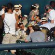 Johnny Depp, et Marion Cotillard sur le tournage de Public Enemies