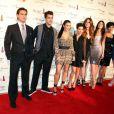 Kourtney Kardashian, Kris Jenner, Kylie Jenner, Kim Kardashian, Kendall Jenner, Scott Disick, Rob Kardashian, Khloe Kardashian à Las Vegas le 15 décembre 2012.