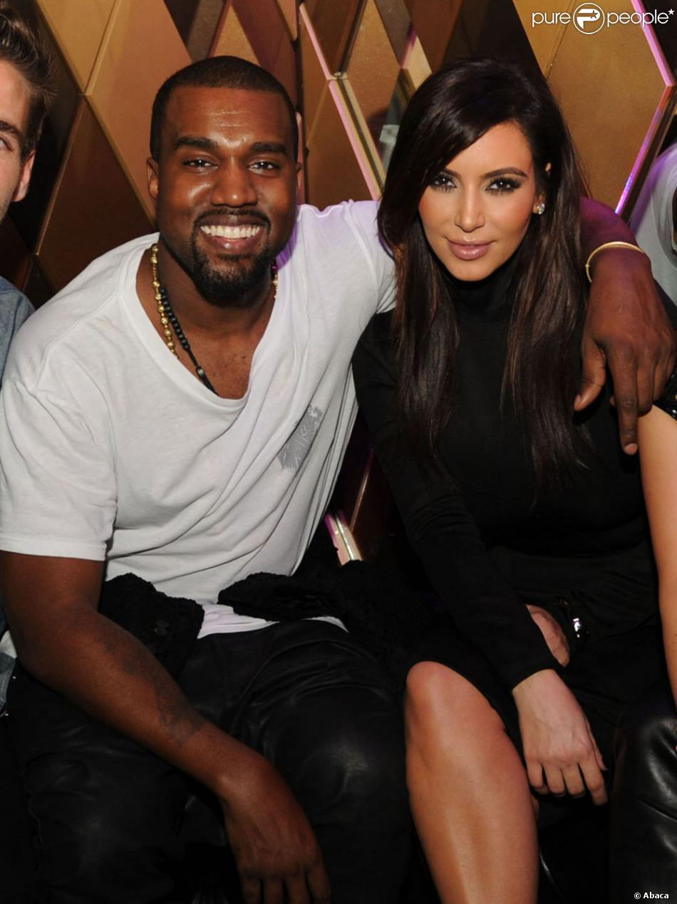 Kanye West et Kim Kardashian à la soirée Aby Rosen's Dinner and Party à Miami le 6 décembre 2012.