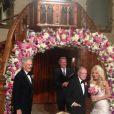 Mariage de Hugh Hefner et Crystal Harris au Manoir Playboy, à Los Angeles, le 31 décembre 2012. Keith Hefner (à gauche) était le témoin de son frère.