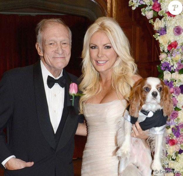 Mariage de Hugh Hefner et Crystal Harris au célèbre Manoir Playboy Mansion à Los Angeles le 31 décembre 2012.