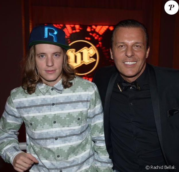 Pierre Sarkozy alias DJ Mosey avec Jean-Roch pour le réveillon du Nouvel An 2013 au VIP Room Marrakech, le 31 décembre 2012.
