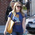 Hilary Duff va se faire faire une pédicure à Beverly Hills, le 8 janvier 2013