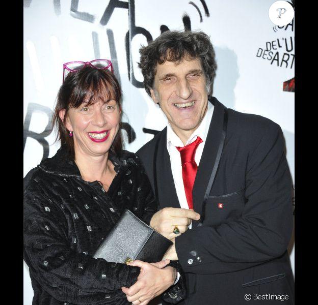 Corinne et Gilles Benizio, alias Shirley et Dino lors du 51e Gala de l'Union Des Artistes au Cirque Alexis Gruss à Paris, le 12 novembre 2012.
