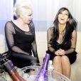 Kim Kardashian passe un très bon moment lors d'une soirée privée dans la boîte de nuit Life Star à Abidjan en Côte d'Ivoire. Une soirée animée par le DJ Big Ali, le samedi 19 janvier 2013