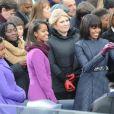 Sasha et Malia Obama, jeunes filles lookées et remarquées le 21 janvier 2013 à la cérémonie d'investiture de leur papa Barack Obama à Washington