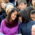 Sasha et Malia Obama, complices avec leur maman Michelle, ont été remarquées par leurs looks le 21 janvier 2013 à la cérémonie d'investiture de leur papa Barack Obama à Washington