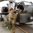 Le prince Harry, Captain Wales dans l'armée britannique, à Camp Bastion en Afghanistan dans la province du Helmand, le 31 octobre 2012. Photo diffusée à la fin de sa mission, le 22 janvier 2012.