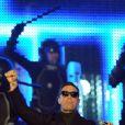 Robbie Williams avec son groupe  Take That , sur la scène des Echo Music Awards à Berlin, le 24 mars 2011.