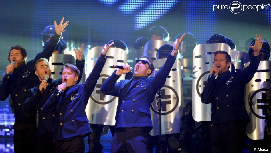 Le groupe  Take That  à la cérémonie des Echo Music Awards à Berlin, le 24 mars 2011.