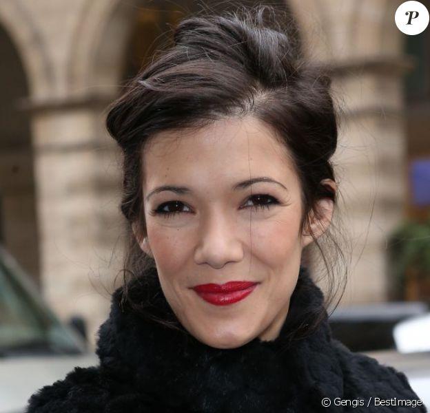 Mélanie Doutey arrive à l'hôtel Westin pour assister au défilé Zuhair Murad haute couture printemps-été 2013. Paris, le 24 janvier 2013.