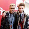 Sidoine et Daniel - Dans le cadre des NRJ Music Awards, la FNAC de Cannes a accueilli la célèbre station de radio pour une émission en direct a Cannes le 25 janvier 2013.