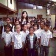 Twitter de Laeticia Hallyday - Réhabilitation d'une école près de #Hanoi #LaBonneEtoile #education