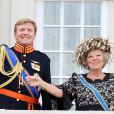 Le prince Willem-Alexander et la reine Beatrix des Pays-Bas le 18 septembre 2012 lors de l'ouverture de l'année parlementaire.